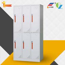 Cheap price office furniture colourful 6 door wardrobe design/ steel locker/ locker