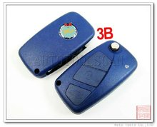 4 Buttons Remote Key Case with Blade for Fiat SAAB Car Key AS017002