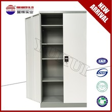 double color purple and white swing door steel filing cabinet / KD metal cupboard design
