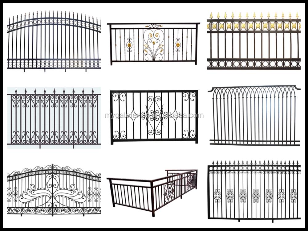 disegno Railing veranda : Vente dusine Yishujia exterieur en fer forge rampe descalier ...