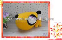 big eyes and head yellow plush dog