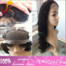 Soft Comfortable Human Hair Silicone base Wig silk top full lace wigs with PU around