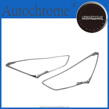 ABS plastic abs car accessories, chrome head light cover for Hyundai Santa Fe 2013