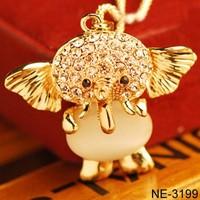Yiwu jewelry factory wholesale cute Thai Elephant Necklace