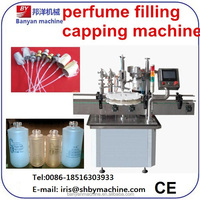 2015 Shanghai Manufacture Price automatic filling capping machine for perfume glass bottle/0086-18516303933
