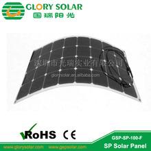 energy saving 100W sunpower solar flexible panels for solar oxygen bar on car