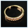 Free Sample Graceful Gold Plated Crystal Diamond Engagement Brass Rings