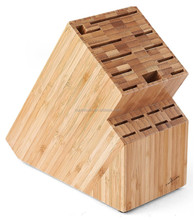 2015 high quality hot selling kitchen knife storage holders bamboo Universal Kitchen Countertop Knife Block