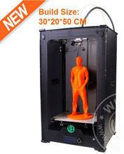 NEW bigger Build Size 30*20*50 cm 3D Printer / Most Practical Desktop FDM 3D Printer with free 6kg 3.0mm ABS/PLA/PETG filament