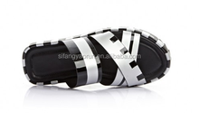 stripe EVA leather light duty slipper sandals/ flat footwear