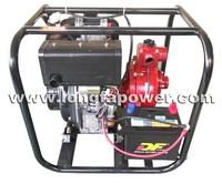High volume water transfer diesel engine pump fire fighting electric start