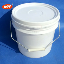 Wholesale 4L plastic bucket with lid and handle for paint or chemical use