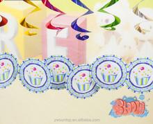Blue Ice cream Hanging Swirl Decoration Baby Shower Decorations