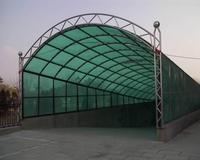 100% anti-UV aluminum car garage polycarbonate roofing for car shed