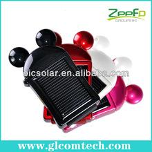 Hecho en china de tamaño mini 550 mah li- polímero recargable solar cargador de batería