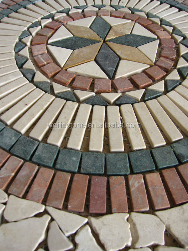 Medallion Floor Tiles Tile Rectangle Mosaic Patterns