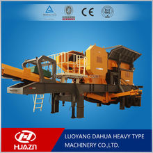 Luoyang Dahua standard cone mobile crusher cost YD mobile crushing plant
