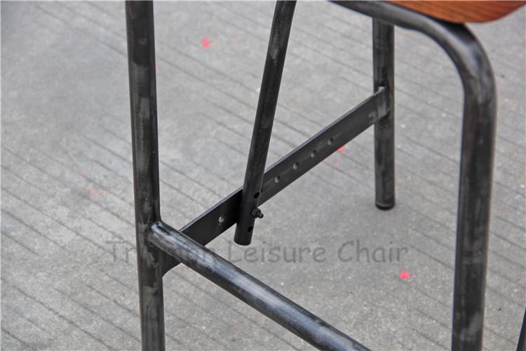 Trionfo vg di ferro metallo e sgabello da bar in legno di