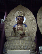 2 meters tall size fiberglass gold buddha statue for sale
