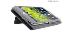 Black color high quality flip wallet leather case for ipad mini with holder HH-IPM03(19)