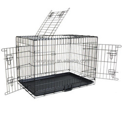 Pet Dog Cage Collapsible Metal Crate Kennel Portable Puppy Cat Rabbit House 30""