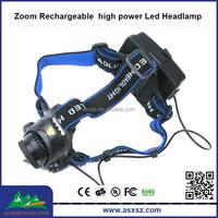 High power XML T6 LED 3Mode Focus Zoom led head lamp