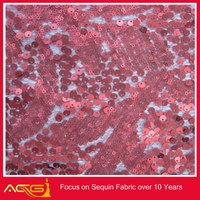 Whoelsae New arrival 10 Yard wholesale 125cm Width thick Sequin Fabric Mesh back decorated glass plates and bowls