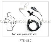 Private Security Earpieces for two-way Radio 2 cable Surveillance Kits PTE-880.