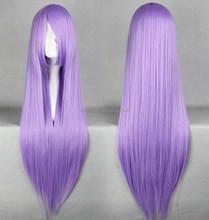Charming Design Light Purple Long Straight Hair Cosplay Artificial Hair Wig W7036