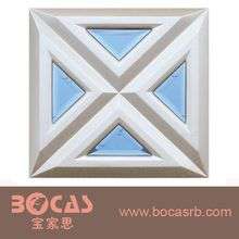 New fashion Square Ceiling Tile Shape and Artistic Ceilings Feature PVC ceiling 3d leather wall panel