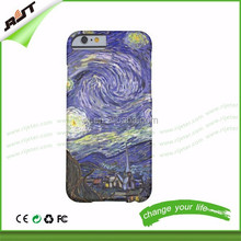 Van Gogh Starry Night, Vintage Landscape Art Barely hard PC phone case factory price anti-scratch for iphone 6 / iphone 6 plus