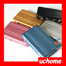 UCHOME Newest Customized Design Card Holder Fashion Suitcase Card Case Colorful Briefcase business card holder