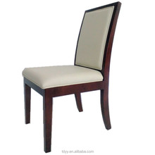 TDSM-30-2 QVB JIANDE TONGDA HIGH BACK WHITE PU WHITE LEATHER DINING ROOM WOODEN DINNING CHAIR