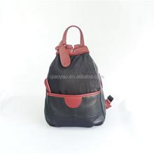 PU black lovely backpack women's bag PU leather bag pu tote bag