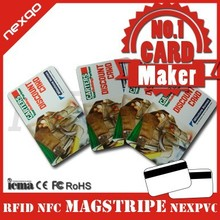 High quality Credit Card Size cr80 plastic loyalty card printing