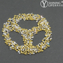 garment accessories contain rhinestones and crystal use in shoes