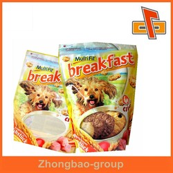 Beauty image high quality dog food packing bag with window, recyling plastic bag for food packing