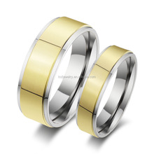 Charming Titanium Ring without Stone IP Gold Plated Wholesale 2015