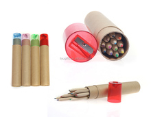 Promotional,advertising 12 mini color pencil sharpener crayon set