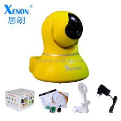WPS wireless ip camera wireless P2P plug connection pan/tilt IP camera