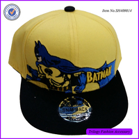 Alibaba Shop Cheap Wolf Embroidered Cap Yellow Children Snapback Hat