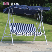 Outdoor furniture adult swing chair, 3-person patio swing with canopy