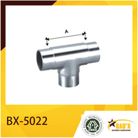 BX-5022 3 Way Stainless Steel Handrail Pipe Connector