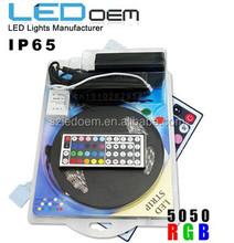Led Strip 5050 RGB 60led/m Waterproof IP65 IR Control 24key/44key AND set Led Strip Horse Race 54led/m IR Control