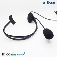 Neckband light weight headset with volume controller and microphone