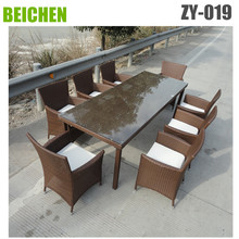 beichen outdoor wicker dining chairs for 8 seater
