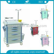 AG-ET007B3 Luxurious emergency trolley healthcare supplier