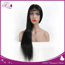 Cheap silky straight human hair full lace wigs for women peruvian human hair wig