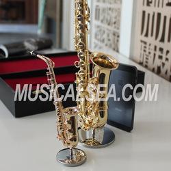 Metal Miniature Saxophone ornament musical instrument gift