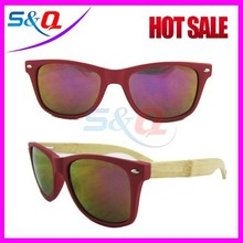 High quality factory price plastic frame bamboo temple polarized sunglasses